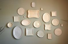 Like old plates/platters...this is a way to display them instead of just having them pile up in a cabinet.