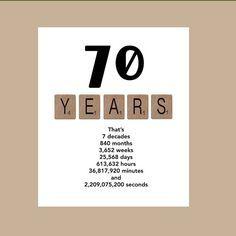 70th Birthday Card Milestone The By DaizyBlueDesigns 400 Bash 70