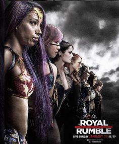 The poster of the gorgeous women of wwe 1st royal rumble.