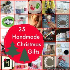 With this list of 25 handmade Christmas gifts, I hope you have a new outlook on gift giving and become more inspired to DIY your holiday gifts. Christmas Crafts For Gifts, Simple Christmas, Xmas Gifts, Kids Christmas, Craft Gifts, Diy Gifts, Christmas Decorations, Christmas 2015, Christmas Ornaments