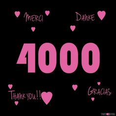 4000 Follower !!! Vielen Dank!! Thank you!! Gracias!! Merci!!! #testesser #bestfollowersever #youarewonderful #thankyou #danke #merci #gracias