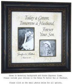 Rustic Wedding Photo Frame Personalized Wedding Gift Wedding Frame