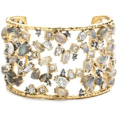Rental Alexis Bittar Elements Fall Cuff ($60) ❤ liked on Polyvore featuring jewelry, bracelets, 14 karat gold bracelet, 14 karat gold jewelry, 14k bracelet, cuff bangle and 14k jewelry