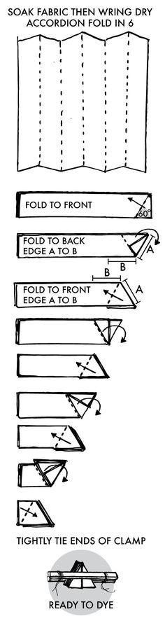 Shibori Instructions Hexagon Honeycomb