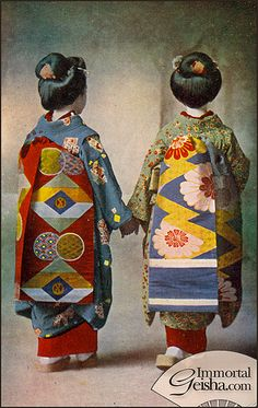 Taisho Era Maiko............http://www.pinterest.com/MasjasArtwork/asian-vintage/