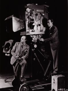 Jack Cardiff and Geoffrey Unsworth with the first technicolor camera.
