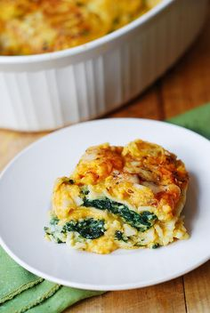Butternut Squash and Spinach Lasagna Omg yum. Will substitute middle layer of noodles with zucchini and use whole wheat pasta! Excited!