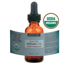 IDRIS IBN Argan Oil  100 Pure Organic Treatment for Hair Face and Nails  USDA and ECOCERT Certified Organic Cold Pressed 1 floz 90 Day -- See this great product. Note:It is Affiliate Link to Amazon.