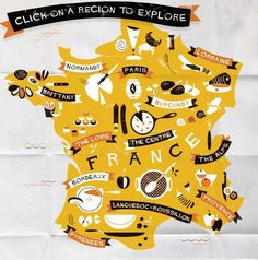 Ha! French food map! Love it!
