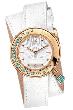 Salvatore Ferragamo-reloj blanco