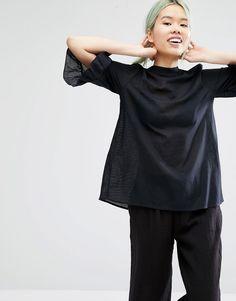 Monki+Frill+Sleeve+Blouse