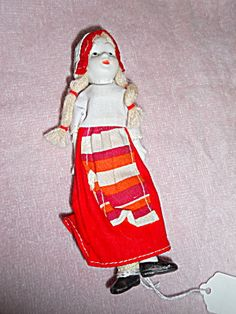 Bisque Doll, Jointed, 6 Inches, Original
