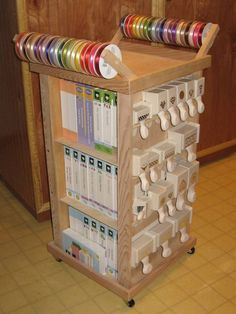 Rolling Cart: Cricut and punch storage!