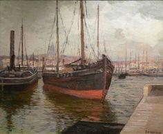 The Inner Harbor, Boulogne - Edward Willis Redfield