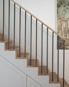 Adorable The beautiful staircase decor of the house becomes comfortable homemi Modern Staircase Adorable Beautiful comfortable Decor homemi House Staircase Wood Railings For Stairs, Modern Stair Railing, Concrete Staircase, Entryway Stairs, Stair Railing Design, Iron Stair Railing, Metal Stairs, House Stairs, Railing Ideas