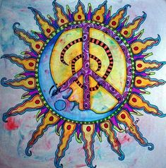 sun/moon peace sign