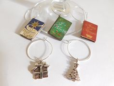 A personal favorite from my Etsy shop https://www.etsy.com/listing/482872050/christmas-hymn-wine-charms-book-charms