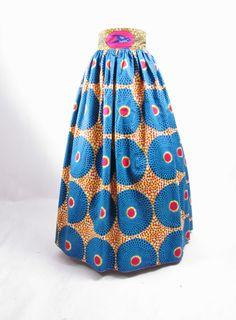 African Print Maxi High Waist Skirt - All Sizes
