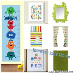 Monster Nursery Inspiration by krystalskitsch, via Flickr