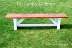 How to Build a Farmhouse Bench (for under $20) | The Creative MomThe Creative Mom