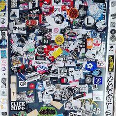 Amazing door YO! #amsterdam #art #stickerart #stickers #streetart #netherlands #graffiti