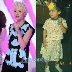 f(x)'s Krystal shares a childhood photo of member Amber #allkpop #kpop