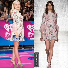 """594 Likes, 4 Comments - Check the Tag (@checkthetag) on Instagram: """"Who: Dove Cameron Wearing: Vivetta Spring 2017 RTW dress, Olympia Le-Tan clutch and Gucci shoes…"""""""