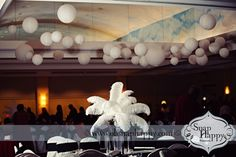 Feather centerpiece by Southern Event Planners in Memphis, Tennessee. Photo by Snap Happy. Feather Centerpieces, Memphis Tennessee, Event Planners, Southern, Happy, Wedding, Design, Valentines Day Weddings