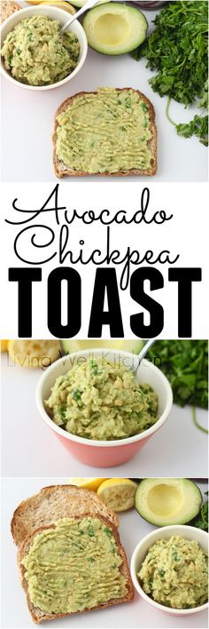 Avocado Chickpea Toast from @memeinge is an easy & tasty vegan breakfast or lunch for those days when you don't have the energy to cook Avocado Recipes, Veggie Recipes, Lunch Recipes, Whole Food Recipes, Cooking Recipes, Vegan Breakfast Recipes, Vegan Recipes Easy, Vegetarian Recipes, Vegetarian Sandwiches