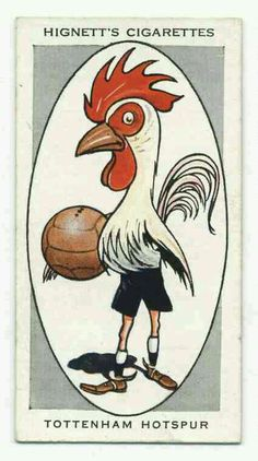 Tottenham cigarette card from the 1930s.