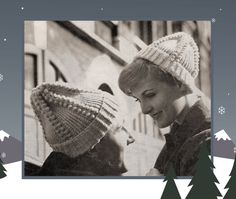 Instant Download PDF Quick Easy Knitting Pattern to make an Aran Bobble Beanie Slouch Pull On Wool Ski Hat Womens and Mens Sizes