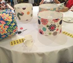 Brislington Women's Institute  Lampshade making May 2015