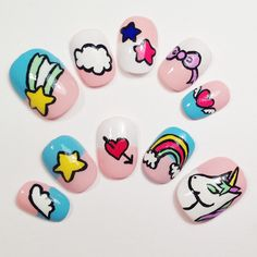 Colorful Unicorn Nails (not for her nails but cute designs for something else like art or a blanket