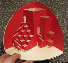 Libros Pop-Up Books Cards: plantilla