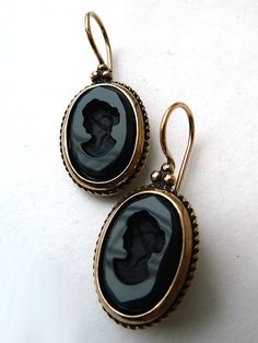 Earring Intaglio by Extasia Wine Cobalt Black Acide from IMPERIO jp