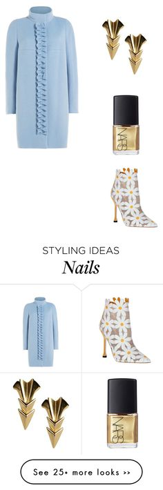 """Untitled #10752"" by danisalalkamis on Polyvore featuring mode, Paule Ka, First People First, NARS Cosmetics et Manolo Blahnik"