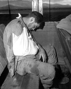 Orvin L. Morris of the Infantry Regiment takes a much deserved rest during his evacuation to Pusan, Korea on a hospital train, July He was wounded by enemy mortar fire on front lines. Real Hero, Historical Images, Korean War, Media Images, North Korea, Troops, Soldiers, World War Ii, Wwii