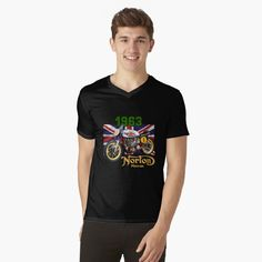 """my broom broke so now i go camping"" T-shirt by My T Shirt, V Neck T Shirt, Tshirt Colors, Female Models, Chiffon Tops, All Black, Classic T Shirts, Attitude, Shirt Designs"