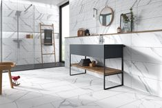 Bathroom Tub: The Complete Guide to Choosing Your Bathroom - Home Fashion Trend Bathroom Colors, Bathroom Sets, White Bathroom, Master Bathroom, Small Bathrooms, Statuario Marble, Shower Storage, Modern Sink, Commercial Flooring