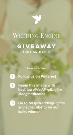 Hooray to #WeddingEngine Giveaway from @enginethemes at https://www.enginethemes.com/weddingengine-giveaway/! Wish you all good luck!