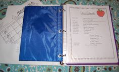 Student Organizational Binders, my schedule and Flash Giveaway