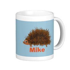 Cute Hedgehog add name Coffee Mugs