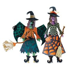 These Art Doll Witches were created by Nancy Hawes. They are simply stunning. There are details everywhere you look.