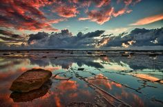 Red Reef Sky III by Glenn Crouch