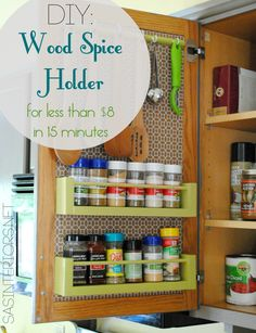 How To Make A Diy Spice Rack Diy Spice Rack Spice Racks