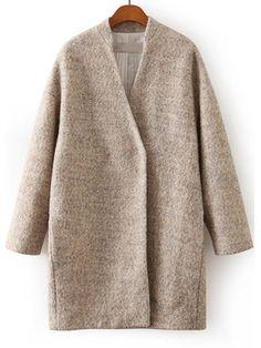 veste en laine manche longue -abricot