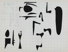 Isamu Noguchi, Work Sheets for Sculpture,1945 74.46
