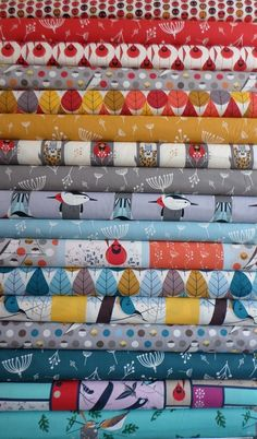Coming out soon, I want them all! Charley Harper for Birch Fabrics Organic, Entire Collection in FAT QUARTERS 17 Total