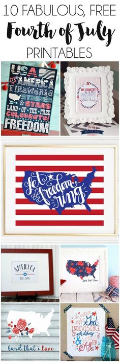 10 Free 4th of July Printables | http://dawnnicoledesigns.com