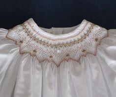 Baptism+Smocked+Dress++Handmade+Baby+Girl+Dress+in+by+GThreads,+$100.00